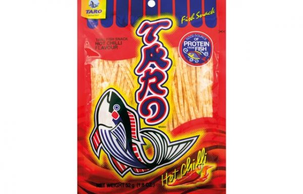 Taro Hot Chilli Fish Snack 52 G