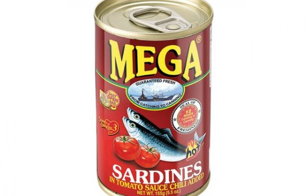Mega Sardines in Tomato Sauce & Chilli (Hot) 155 G