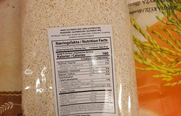 White glutinous rice Glutinous ris 1kg
